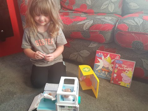 Peppa Pig Medical Centre with Flip Flap Book and Fire Engine DVD