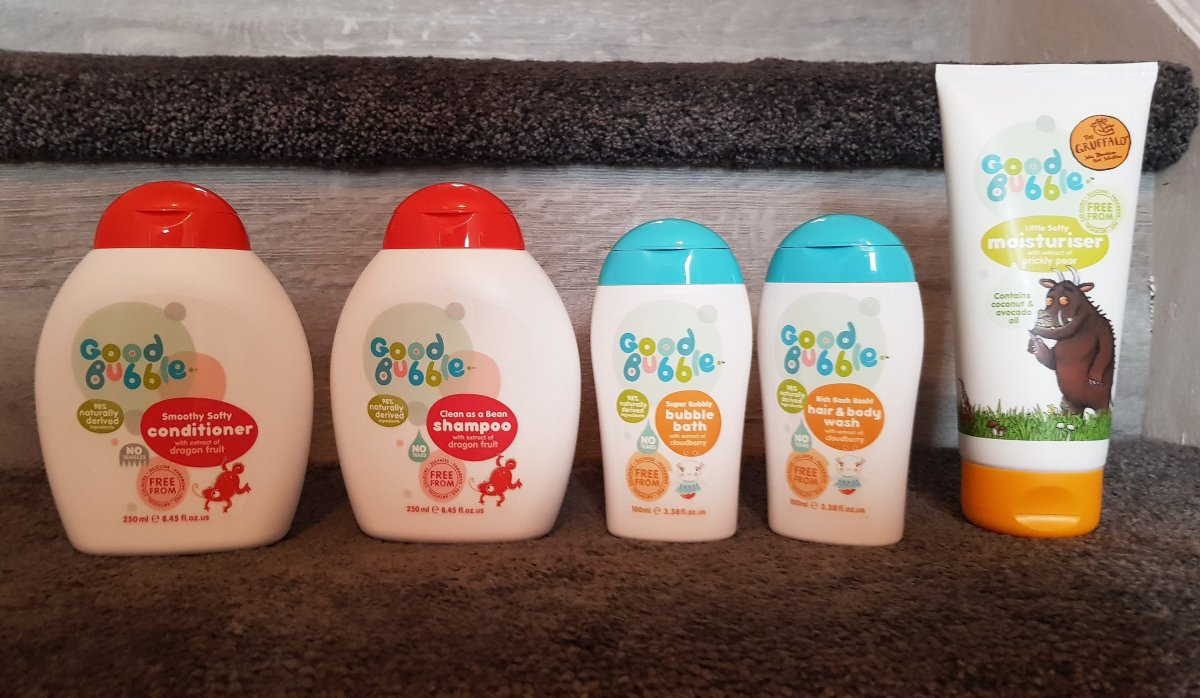 Trying out Good Bubble kids bath products