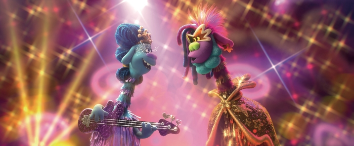 (from left) Queen Essence (Mary J. Blige) and King Quincy (George Clinton) in DreamWorks Animation's Trolls World Tour, directed by Walt Dohrn.